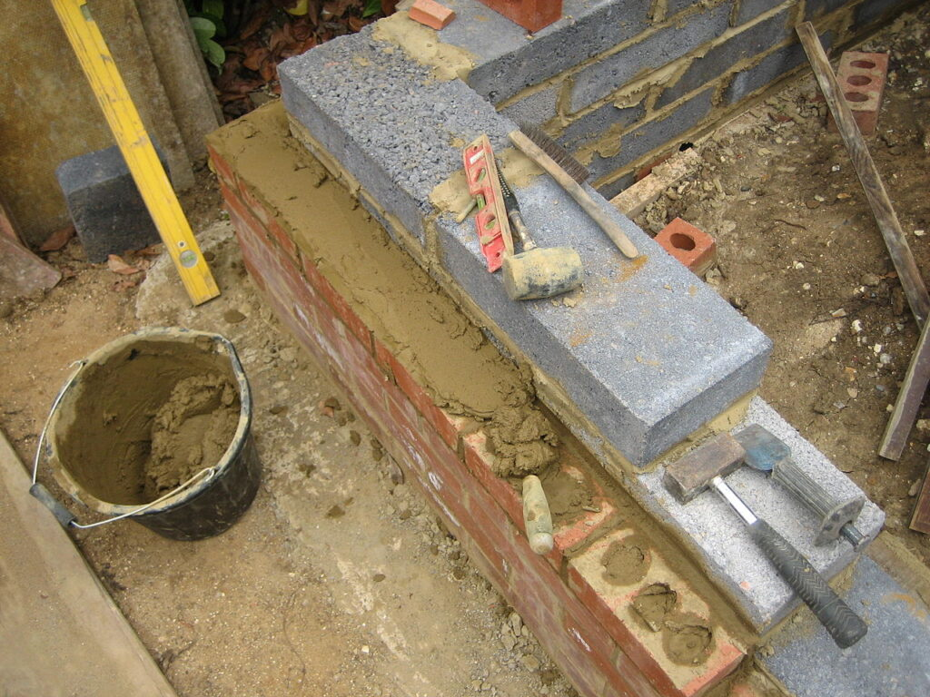 Bricks and concrete work